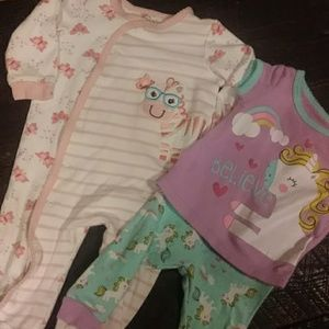 Other - Infant girl sleeper and pj set